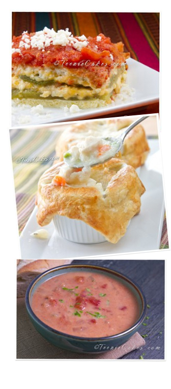 Chile Relleno Casserole; Chicken Pot Pie, Smoky Vegetarian Tomato Soup