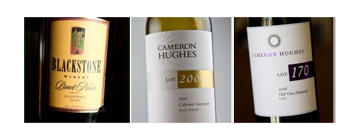 Wines - Blackstone Winery Pinot Noir; Cameron Hughes Lot 200; Cameron Hughes Lot 170