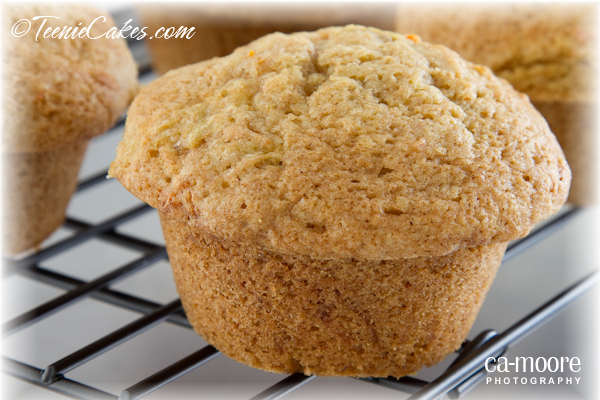 Carrot-Zucchini Muffins with Candied Ginger