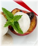 Grilled Peaches with Sweet Cream