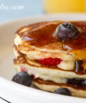 Blueberries and Strawberries – Buttermilk Pancakes