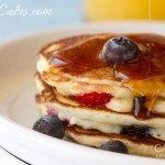 Blueberries and Strawberries - Buttermilk Pancakes