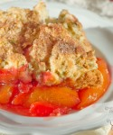Peach and Pistachio Cobbler