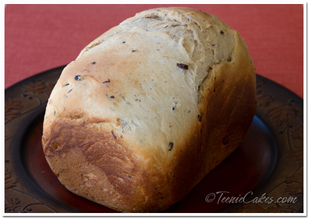 Greek-Style Bread with Feta and Kalamata Olives - loaf