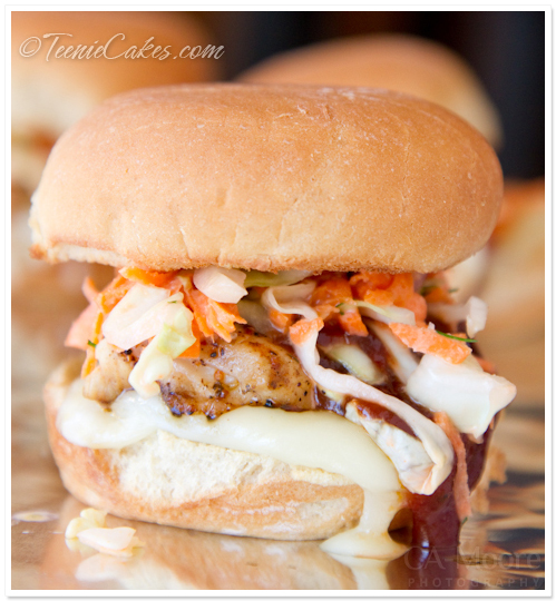 Grilled Chicken Sliders with Carrot Slaw