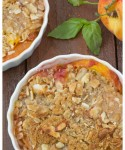 Fresh Peach and Basil Oat Crumbles