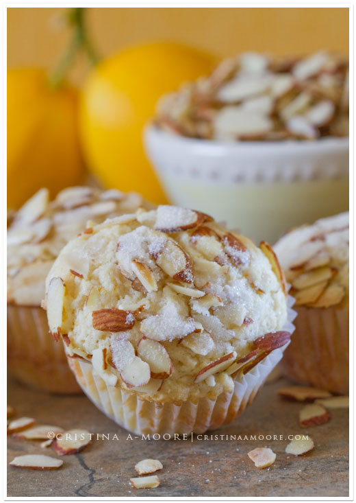Lemon Ricotta Muffins with Almonds