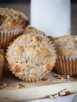 Oat-Pecan and White Chocolate Chunk Muffins