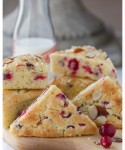 Meyer Lemon and Cranberry Scones