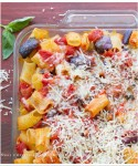 Baked Rigatoni al telefono with Smoked Mozzarella and Aubergine/Eggplant