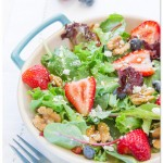 Summer Salads - Baby Greens and Strawberry Dressing
