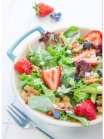 Simply Salads: Baby Greens with Strawberry Dressing & Nora Ephron