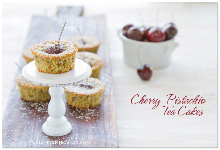Cherry-Pistachio Tea Cakes