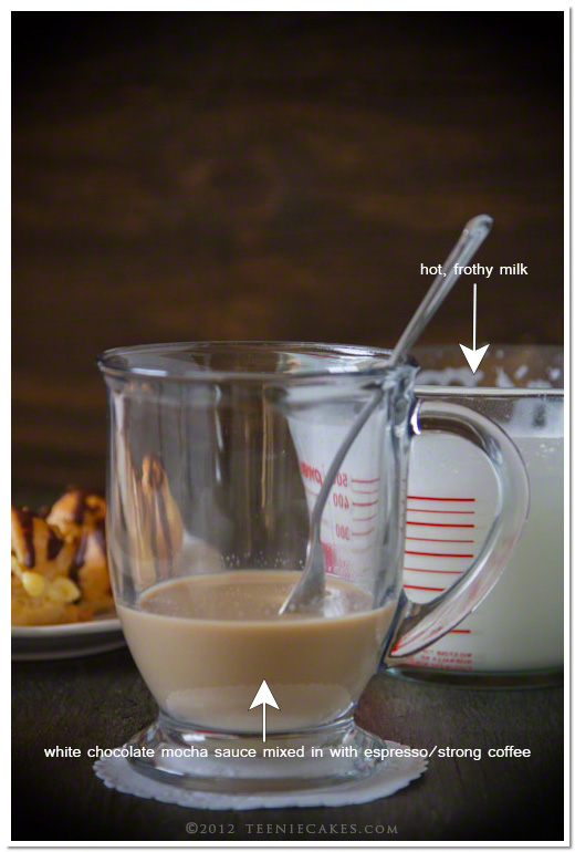 The Quintessential White Chocolate Mocha - Prep from Teenie Cakes - TeenieCakes.com