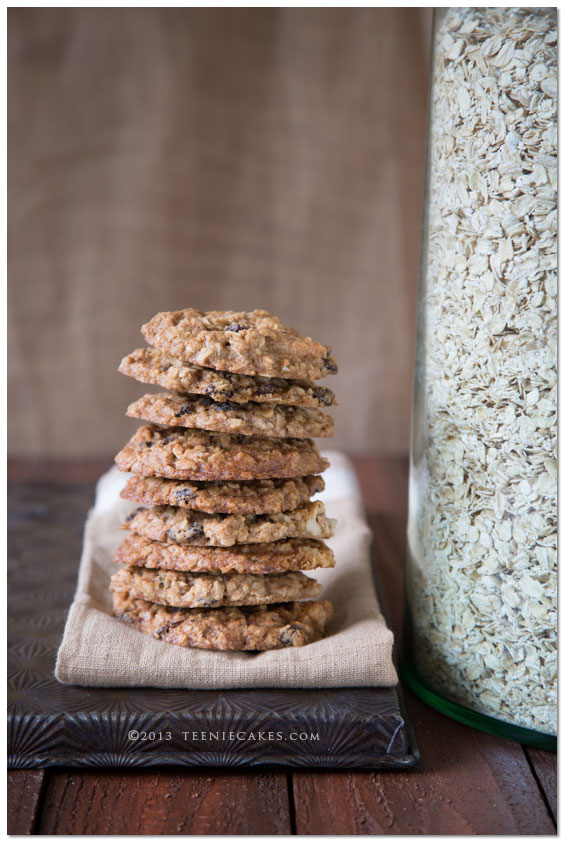 Oatmeal Raisin Cookies from TeenieCakes.com