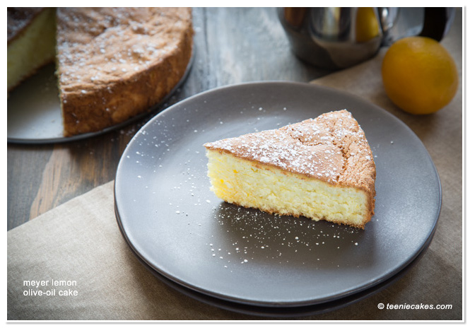 Meyer Lemon Olive Oil Cake from TeenieCakes.com