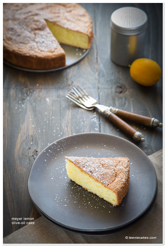 Meyer Lemon Olive Oil Cake recipe | TeenieCakes.com