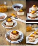 Mini Cheesecakes with Chocolate Ganache & Sugared Kumquats