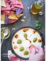 Queso Fundido with Roasted Poblano Vinaigrette recipe | TeenieCakes.com