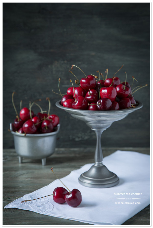 Freezing Summer Bing Cherries | TeenieCakes.com