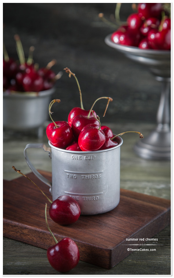Freezing Summer Cherries | TeenieCakes.com