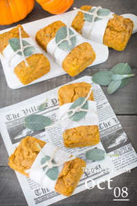 Mini Pumpkin, Sage and Brown Butter Cakes