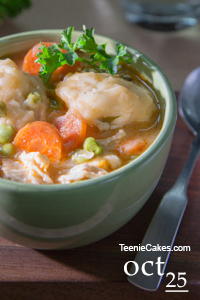 Slow Cooker - Old-Fashioned Chicken and Dumplings | TeenieCakes.com