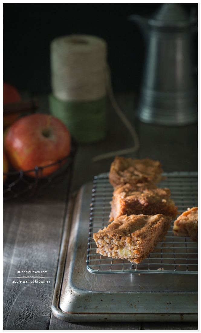 Apple Walnut Brownies | TeenieCakes.com