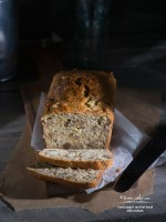 Greek Yogurt Zucchini Bread with Walnuts recipe | TeenieCakes.com