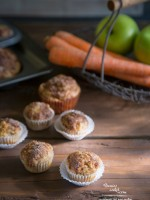 Carrot Apple Nut Mini-Muffins recipe | TeenieCakes.com