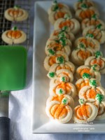 Pumpkin Pie Spices - Spritz Butter Cookies recipe | TeenieCakes.com