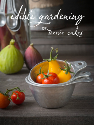 Edible Gardening features on Teenie Cakes