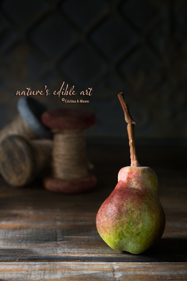 Nature's Edible Art - The Autumn Pear Cristina A-Moore Photography