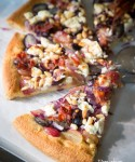Fall In Love with Grapes - Red & Black Grapes Focaccia with Goat Cheese & Prosciutto