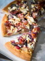 Red and Black Grapes Focaccia with Goat Cheese & Prosciutto recipe
