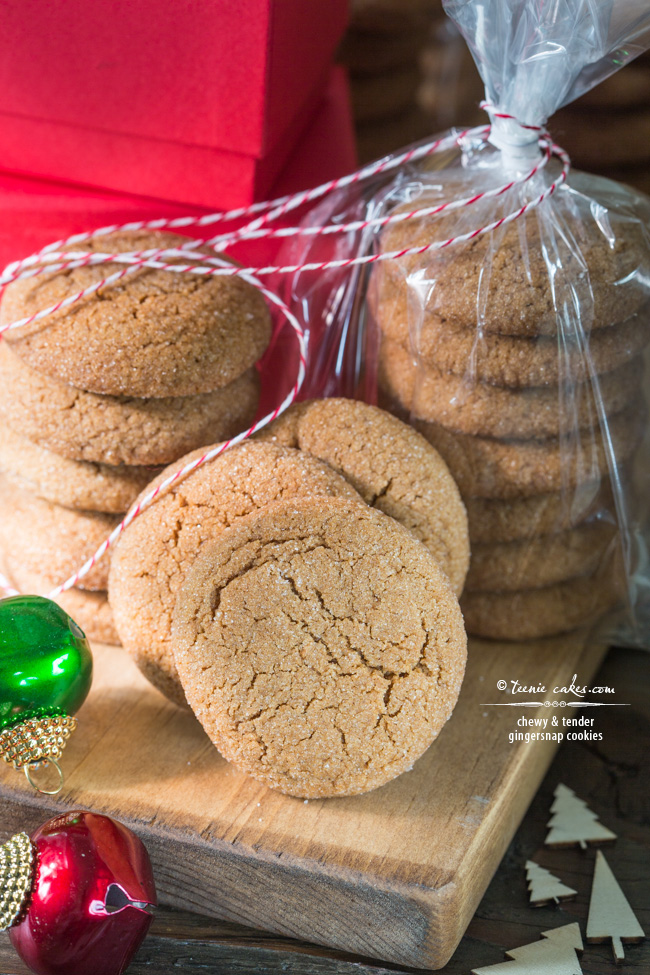 Chewy and Tender Gingersnap Cookies recipe