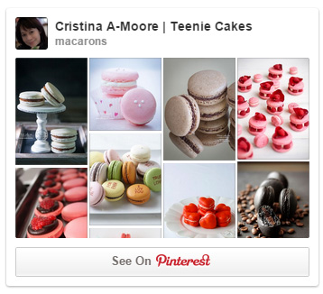 Follow Teenie Cakes Macaron board on Pinterest!