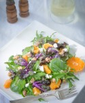 Citrus-EVOO Spring Salad Mix w/Kale Sprouts, Ojai Pixies & Sugared Pistachios