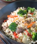 Quick, Easy & Versatile Asian-Style Pork and Noodles with Fresh Vegetables