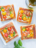 Baby Heirloom Tomato Tarts with Goat Cheese & Herbs