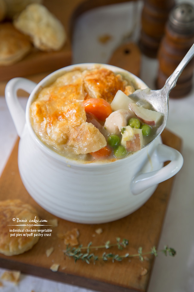 Individual Chicken-Vegetable Pot Pies w/Puff Pastry Crust & Dream Kitchen Planning