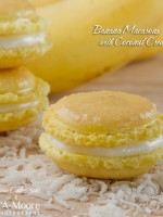 Banana Macarons with Coconut Cream