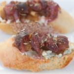 Crostini with Gorgonzola and Figs