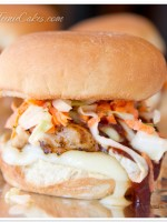 Grilled Mesquite Chicken Sliders with Carrot Slaw