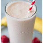 Healthy Treats: Banana - Razz Yogurt Smoothie recipe | TeenieCakes.com