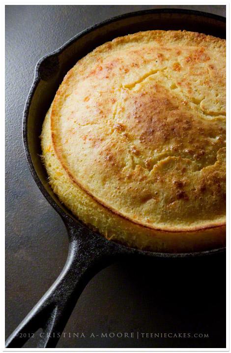 Cheesy Skillet Cornbread recipe | TeenieCakes.com