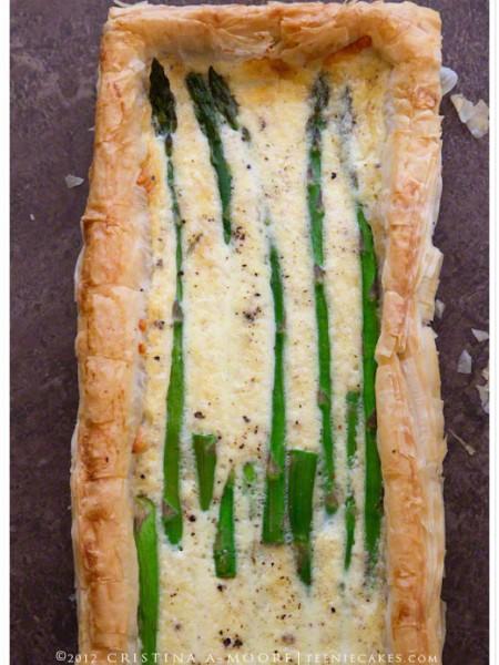 Asparagus-Gruyere Tart recipe   TeenieCakes.com