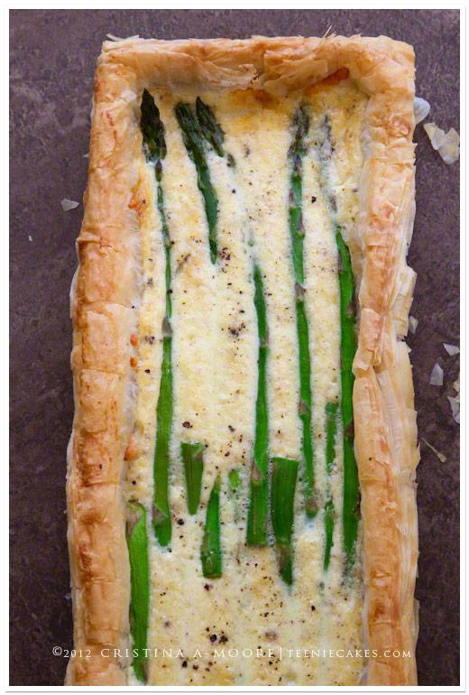 Asparagus-Gruyere Tart recipe | TeenieCakes.com