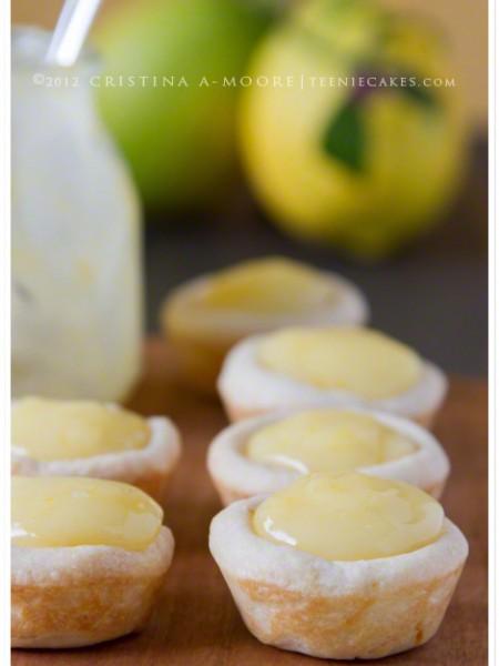 Lemon Tassies with Meyer Lemon Curd recipe| TeenieCakes.com