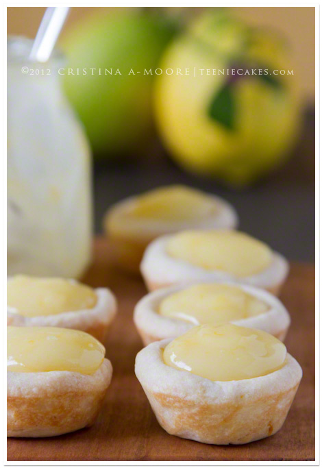 Lemon Tassies with Meyer Lemon Curd recipe | TeenieCakes.com